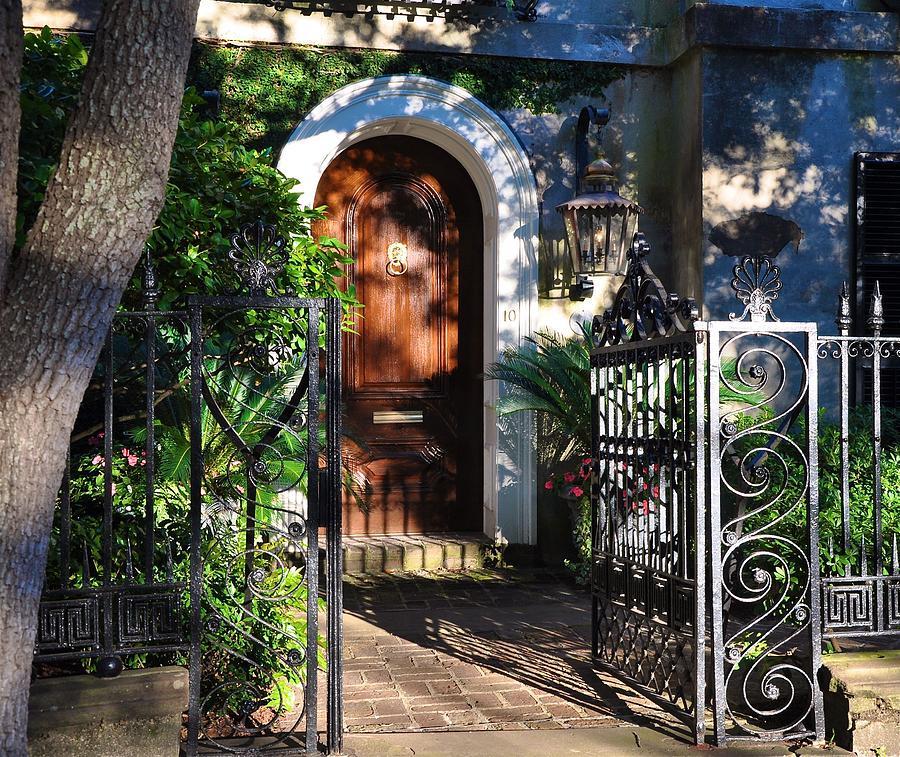 Photograph - Charleston Door by Lori Kesten