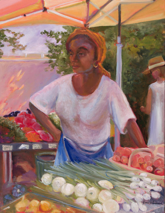 Jane Woodard Painting - Charleston Market Place by Jane Woodward