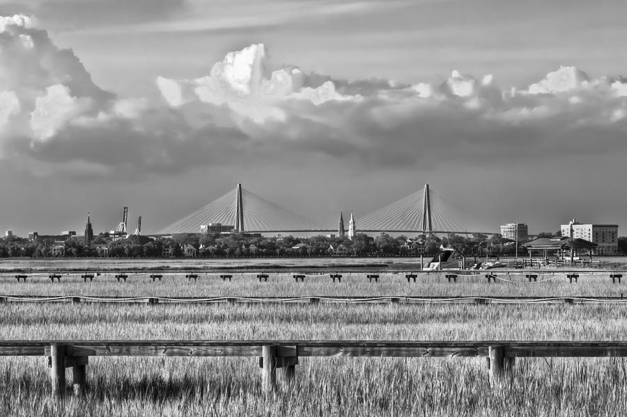 Harbor Photograph - Charleston Skyline by Drew Castelhano