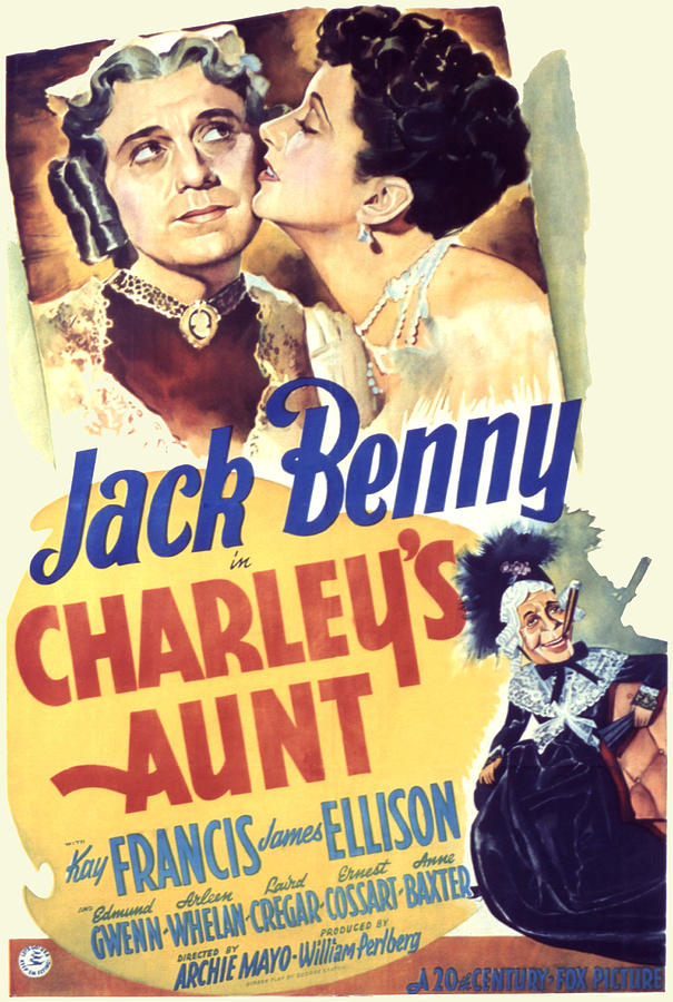 1940s Movies Photograph - Charleys Aunt, Jack Benny, Kay Francis by Everett