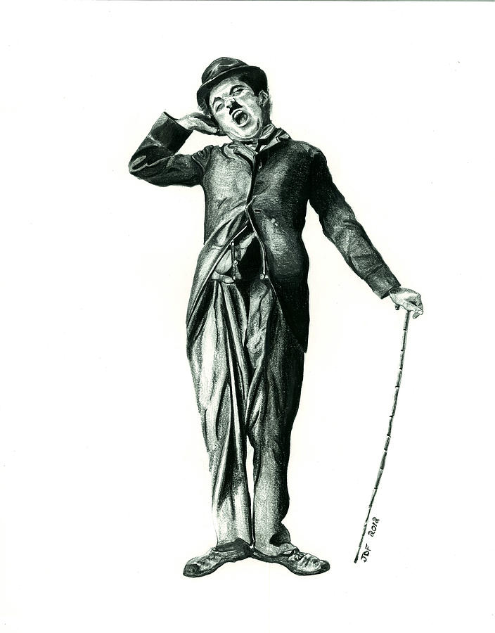 Charlie Chaplin Drawing by Francois Michaud