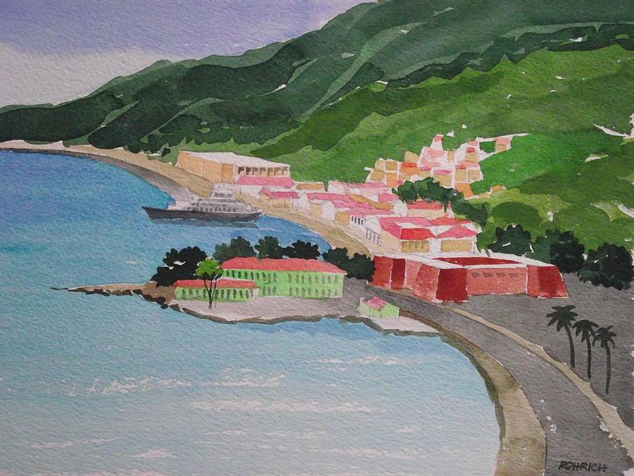 Caribbean Island Painting - Charlotte Amalie by Robert Rohrich