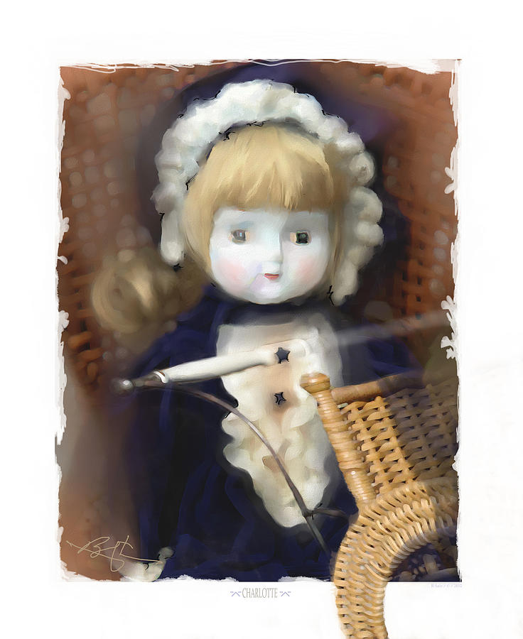 Baby Doll Painting - Charlotte by Bob Salo