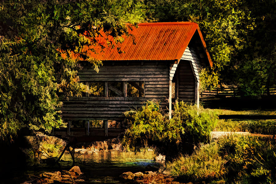 Covered Bridge Photograph - Charming Covered Bridge  by Trudy Wilkerson