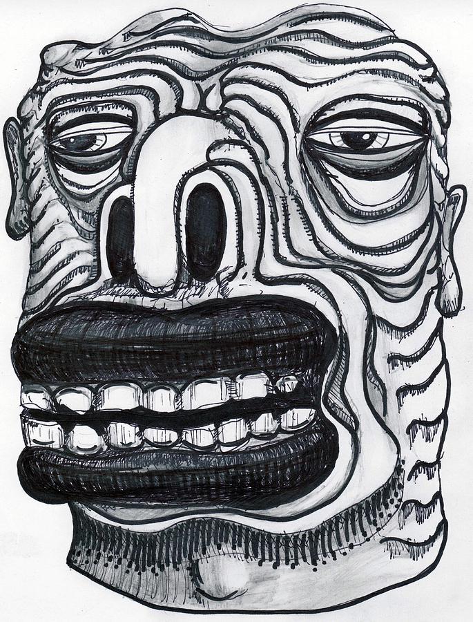 Contemporary Drawing - Chasing Basil by Robert Wolverton Jr