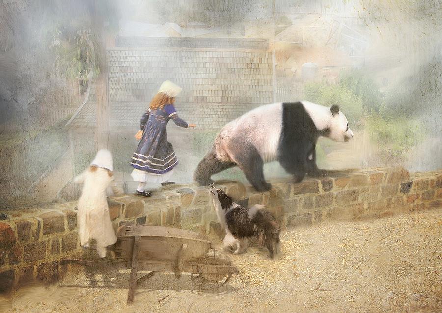 Panda Photograph - Chasing Childhood Dreams by Trudi Simmonds