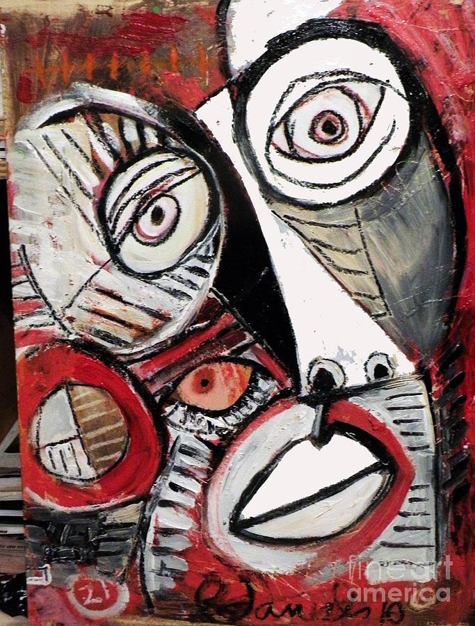 Robert Daniels Mixed Media - Chasing Picasso by Robert Daniels