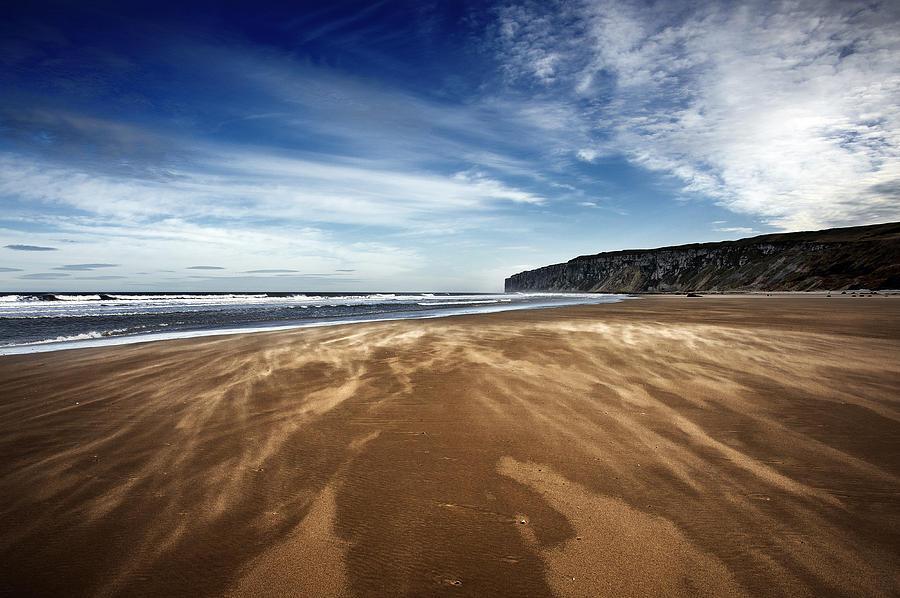 Bay Photograph - Chasing Sand by Svetlana Sewell