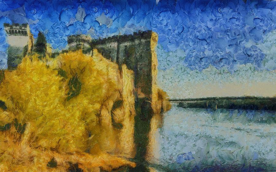 Chateau Painting - Chateau De Tarascon by Aaron Stokes