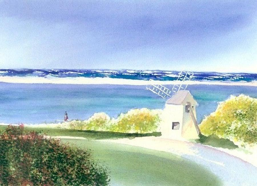 Windmill Painting - Chatham Harbor July by Joseph Gallant