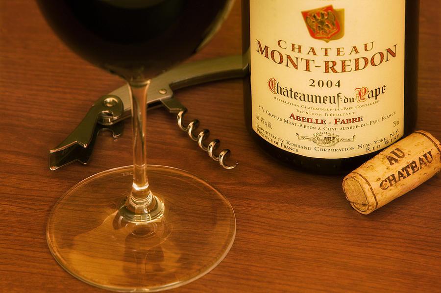 Wine Glass Photograph - Chatteau Du Pape by John Galbo