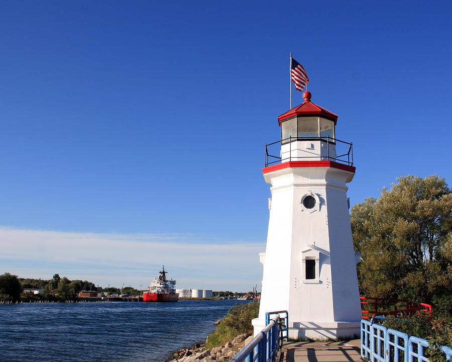 Cheboygan Crib Lighthouse 1 Photograph By George Jones