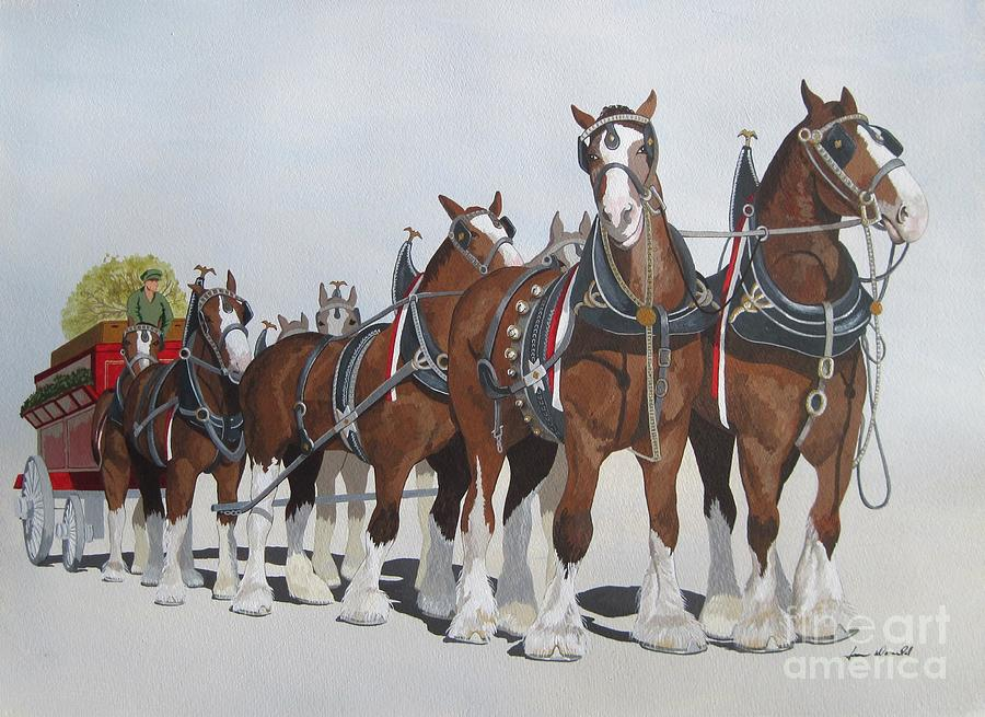 Horse Painting - Cheers by Jennifer  Donald