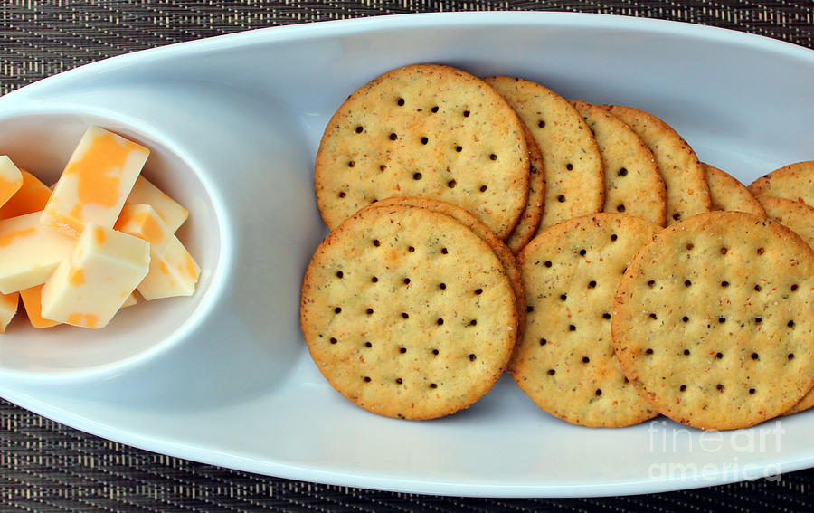 Cheese And Crackers Photograph By Barbara Griffin