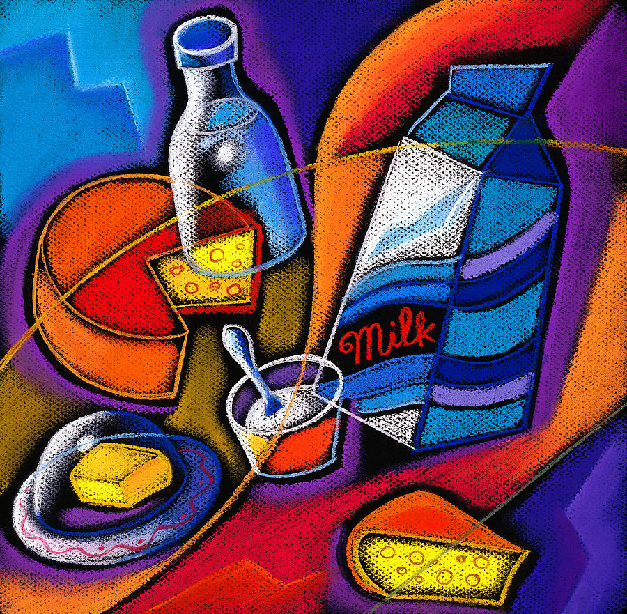 Cheese Painting by Leon Zernitsky