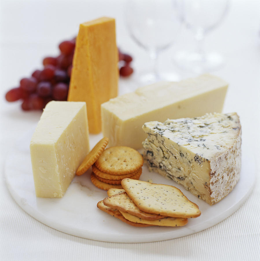 Red Leicester Photograph - Cheese Selection by David Munns