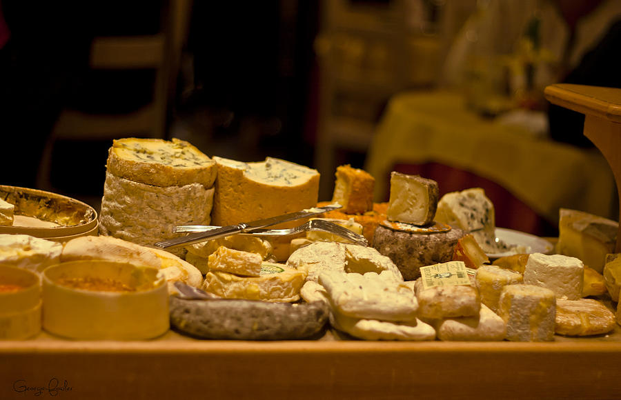 Aged Photograph - Cheese Selection by Georgia Fowler