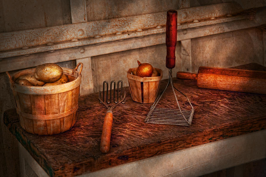 Chef Photograph - Chef - Food - Equipment for making Latkes by Mike Savad