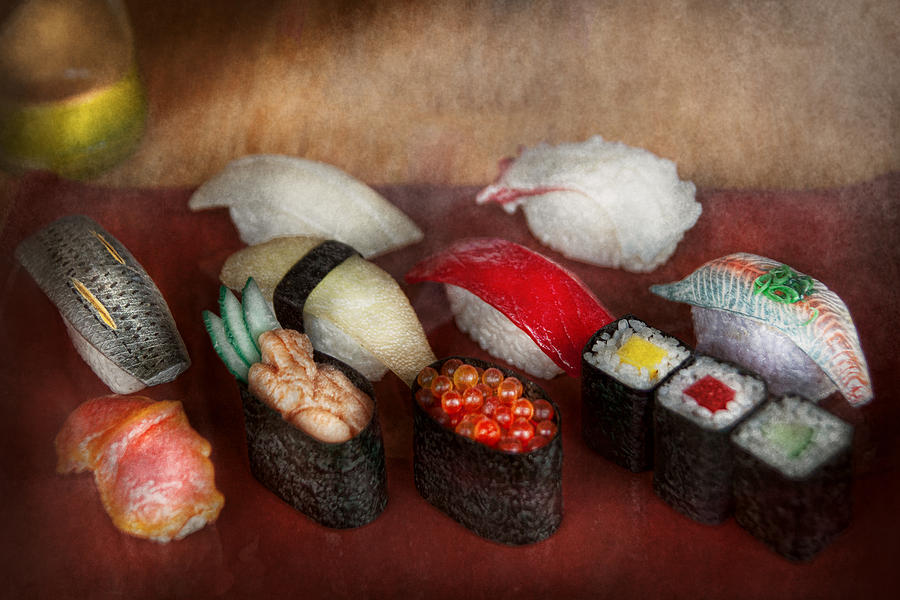 Chef Photograph - Chef - Food - Oh I had sushi last night  by Mike Savad
