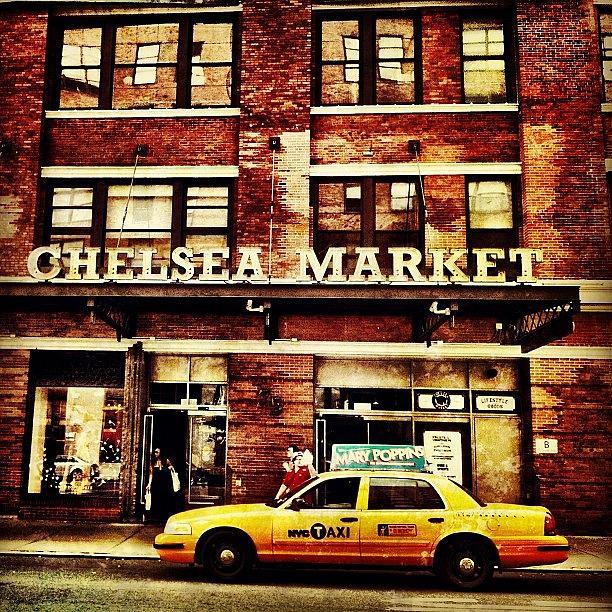 Taxi Photograph - Chelsea Market by Luke Kingma