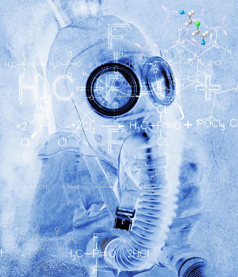Terrorism Photograph - Chemical Warfare by Mehau Kulyk