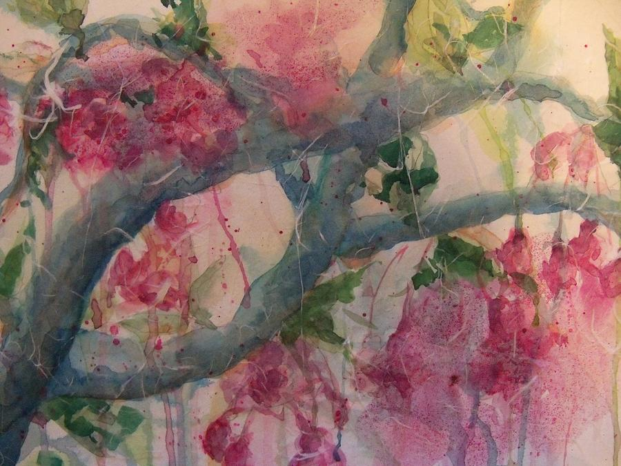 Happy Painting - Cherry Blossoms by Sandy Collier