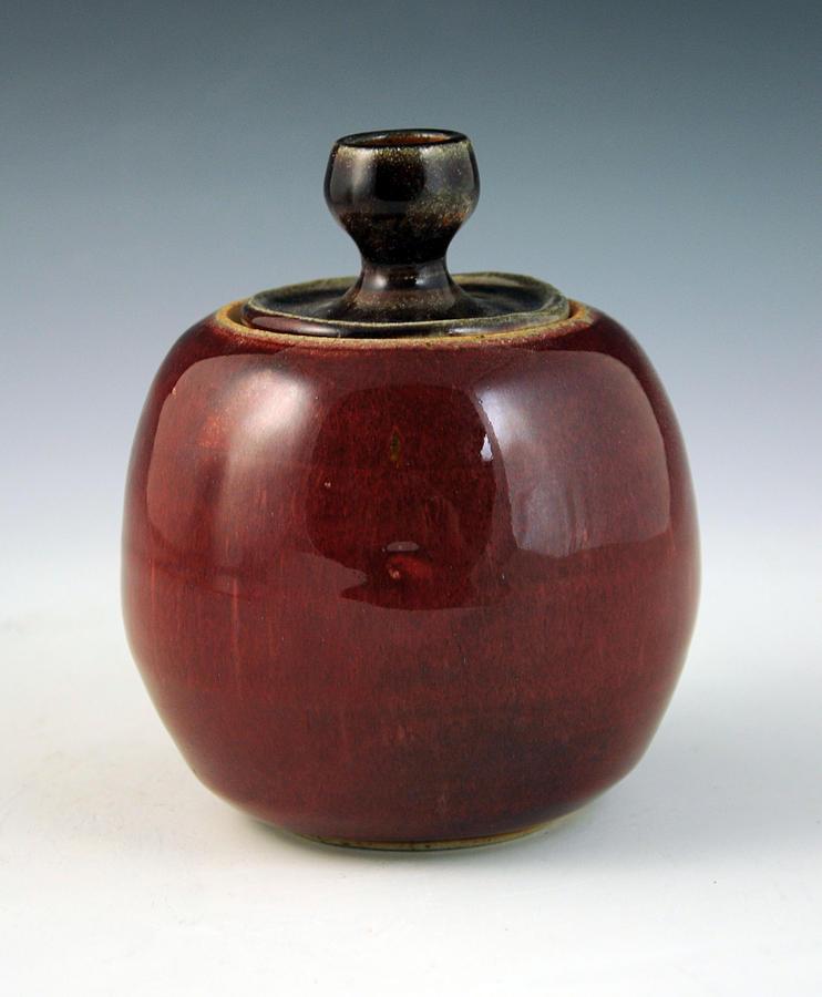 Clay Ceramic Art - Cherry Jar by Alejandro Sanchez