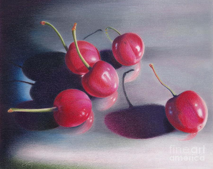 Fruit Painting - Cherry Talk by Elizabeth Dobbs