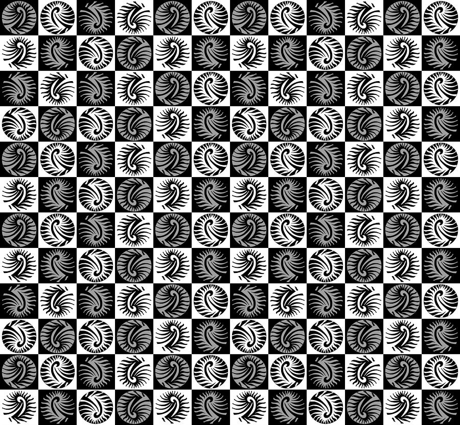 Chic Digital Art - Chess Board by Sumit Mehndiratta