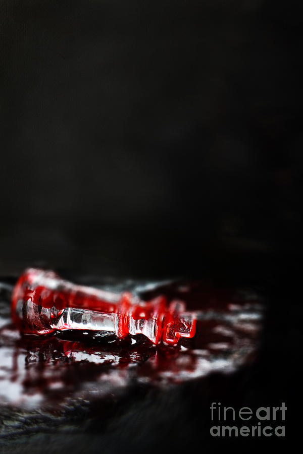 Chess Photograph - Chess Piece Lying In Blood by Stephanie Frey