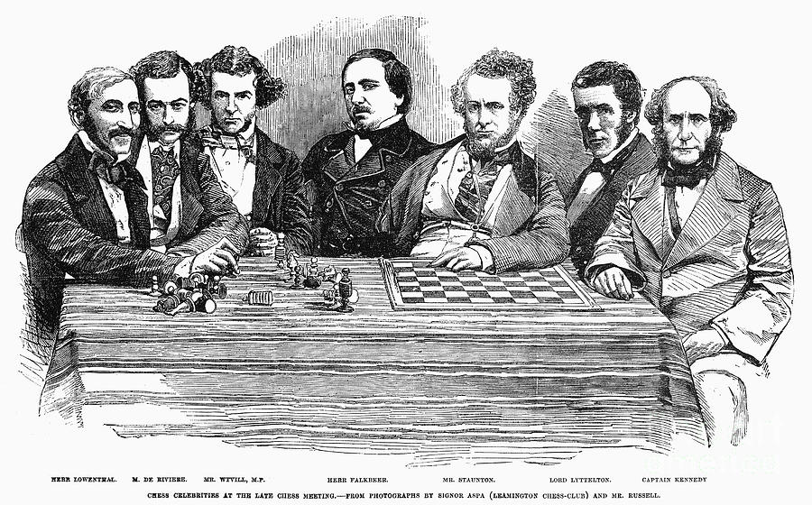1855 Photograph - Chess Players, 1855 by Granger