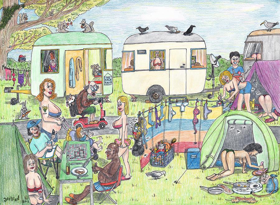 Camping Drawing