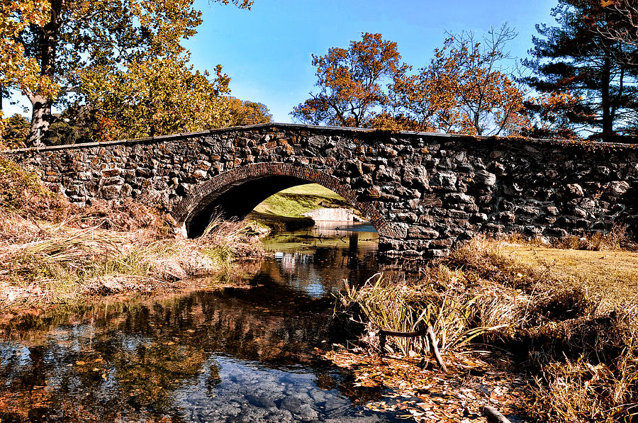 Chester Photograph - Chester County Bow Bridge by Bill Cannon