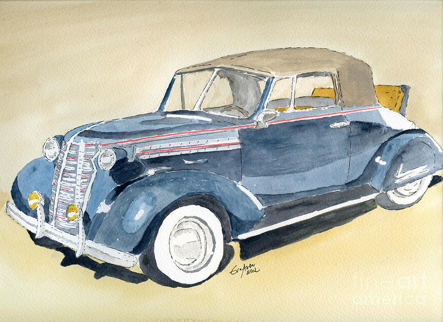 Classic Cars Painting - Chevrolet Cab -38 by Eva Ason