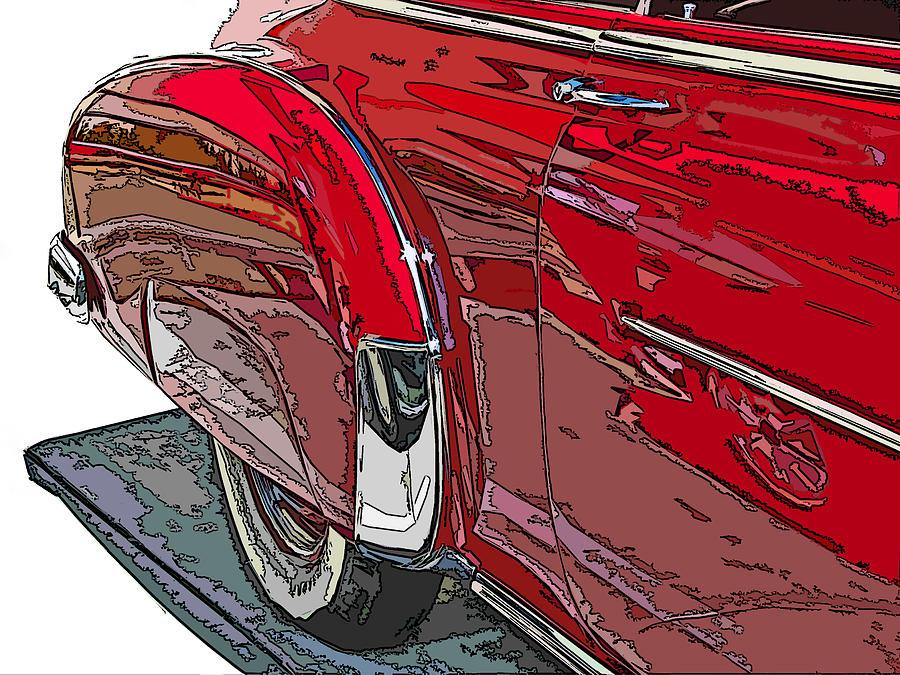 Chevy Photograph - Chevrolet Fleetline Deluxe Rear Wheel Study by Samuel Sheats