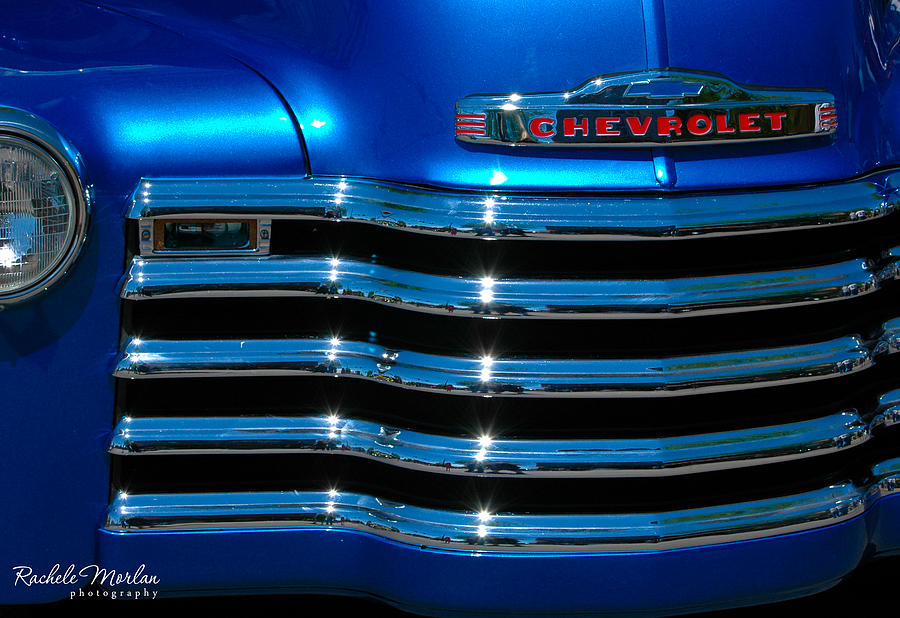 Classic Photograph - Chevrolet Grill by Rachele Morlan