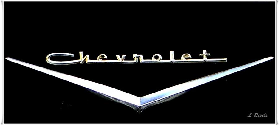 Chevrolet Photograph - Chevrolet Logo by Leslie Revels