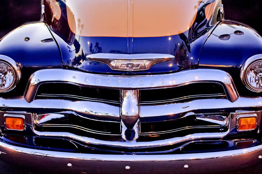 Chevrolet Pickup Truck Photograph - Chevrolet Pickup Truck Grille Emblem by Jill Reger