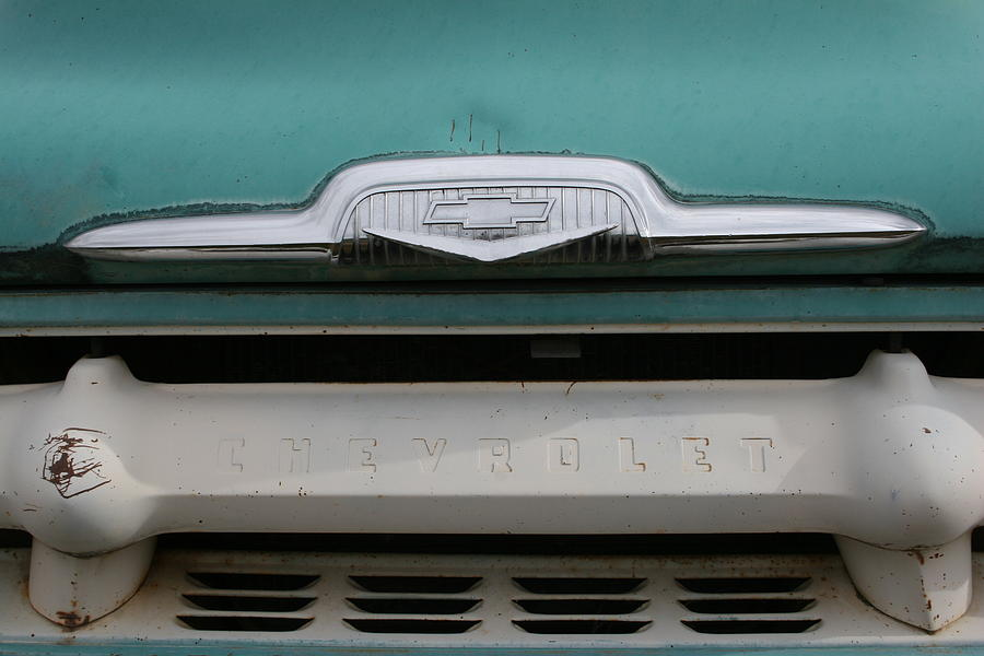 Chevy Blue Photograph by Ken Riddle