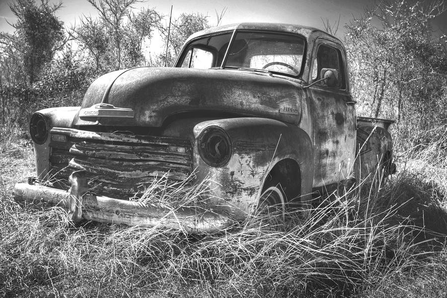 Truck Photograph - Chevy In A Field by Paul Huchton