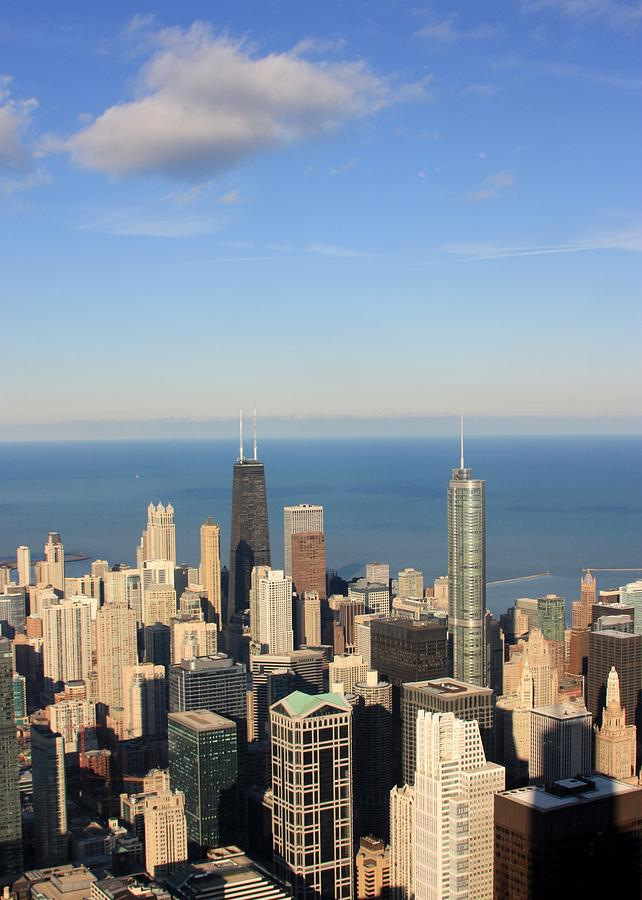 Vertical Photograph - Chicago Aerial View by Luiz Felipe Castro
