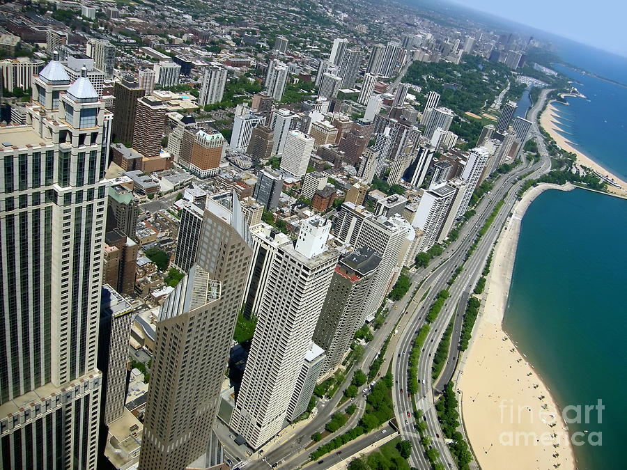 Chicago Photograph - Chicago Aerial View by Sophie Vigneault