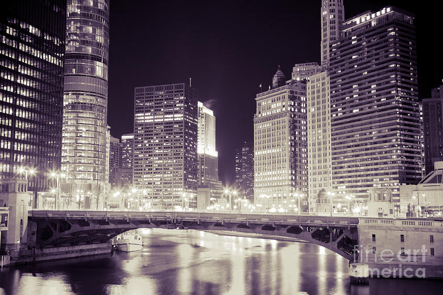 330 North Wabash Photograph - Chicago Cityscape At State Street Bridge by Paul Velgos