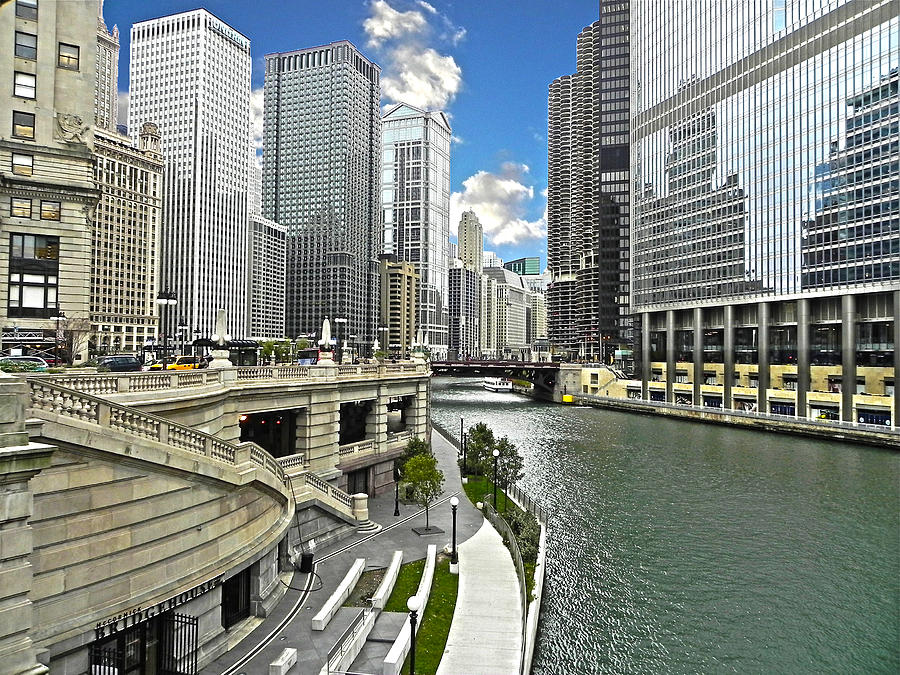 Chicago Photograph - Chicago Downtown Hdr by Jesus Nicolas Castanon