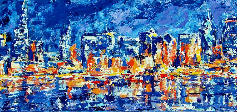 Chicago Painting - Chicago Lake Front by Kat Griffin