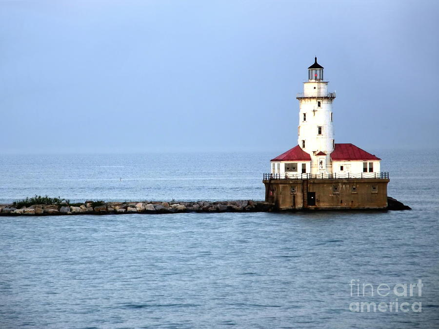 Chicago Photograph - Chicago Lighthouse by Sophie Vigneault