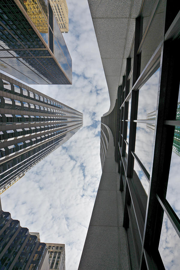 Business Photograph - Chicago - Look Towards The Sky by Christine Till