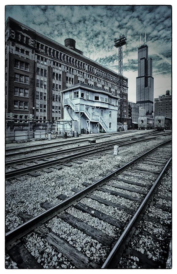 Chicago Photograph - Chicago Rail Station by Donald Schwartz