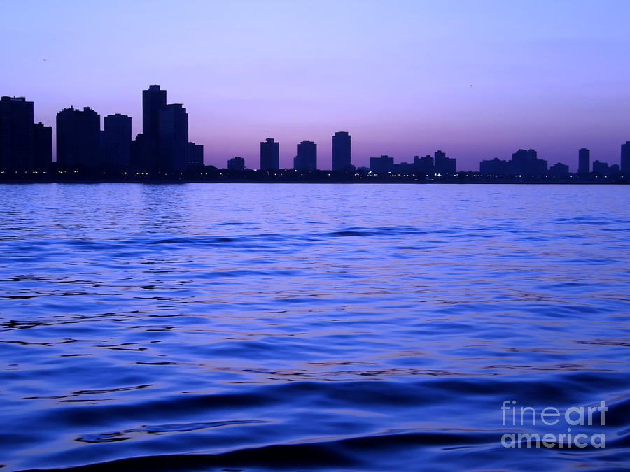Chicago Photograph - Chicago Skyline At Night by Sophie Vigneault