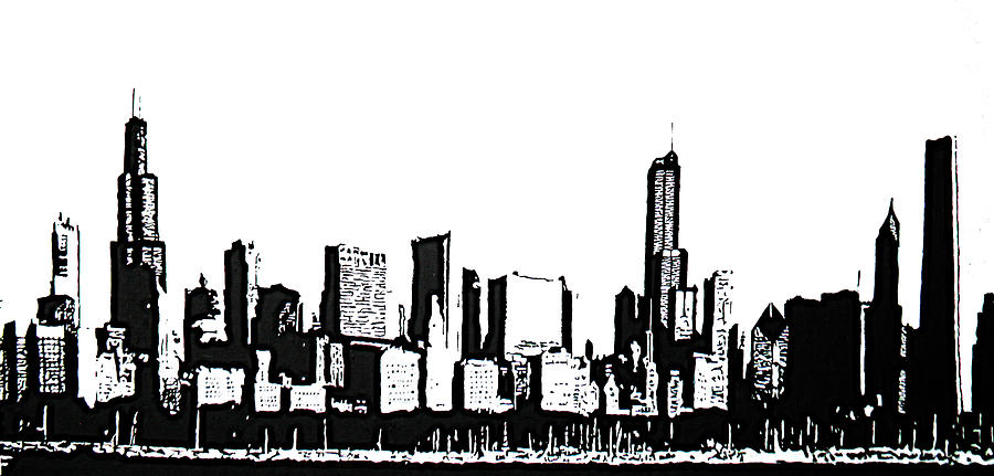 Chicago Painting - Chicago Skyline by Matthew Formeller